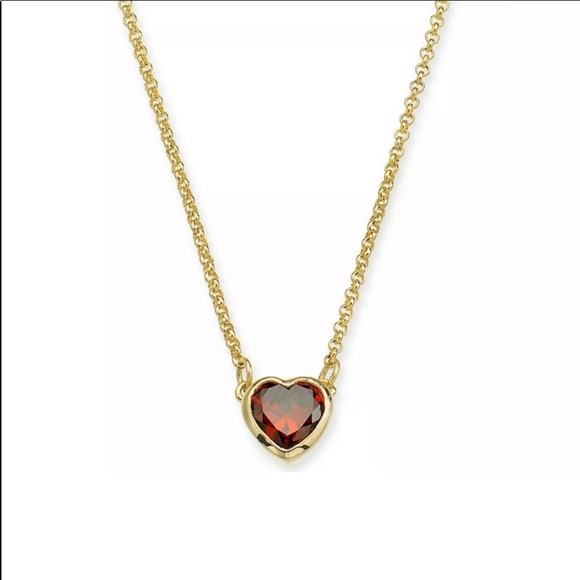 kate spade Jewelry - Mini crystal CZ Red heart pendant necklace